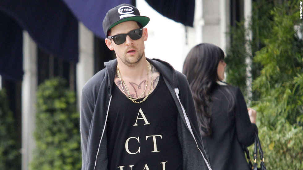 Benji Madden goes shopping in West Hollywood.