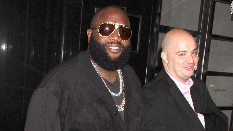 Rick Ross leaves his hotel in London.