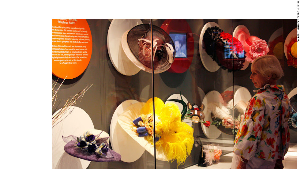The Kentucky Derby Museum chronicles the history and the traditions of thoroughbred racing, including the bold hats worn by spectators.