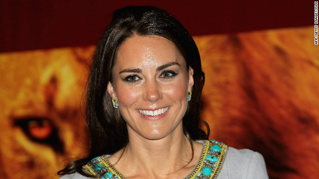 Catherine, Duchess of Cambridge, attends the UK Premiere of the film 'African Cats' in London on April 25, 2012. Prince William and Catherine's attendance at the premiere of African Cats was their first public engagement since Prince William returned from his deployment in the Falklands. The royal couple will mark the first anniversary of their marriage on April 29