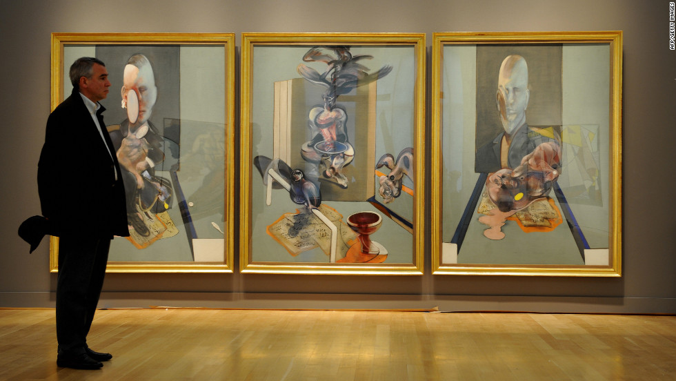 "In 2008, Sotheby's auctioned Bacon's ""Triptych"" for $86.3 million."