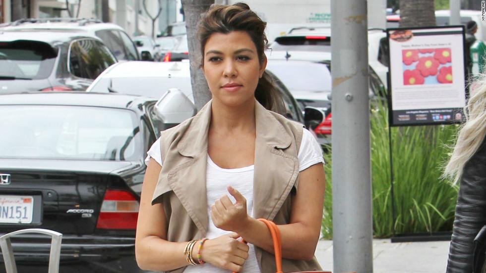 Kourtney Kardashian goes shopping.