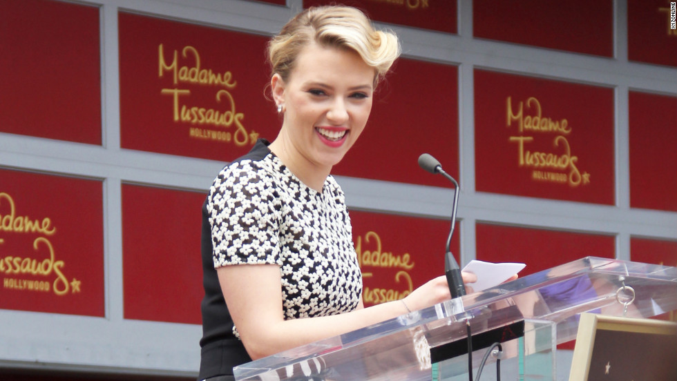 Scarlett Johansson receives a star on the Hollywood Walk of Fame.
