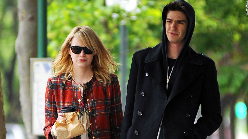 Emma Stone and Andrew Garfield go for a stroll in NYC.