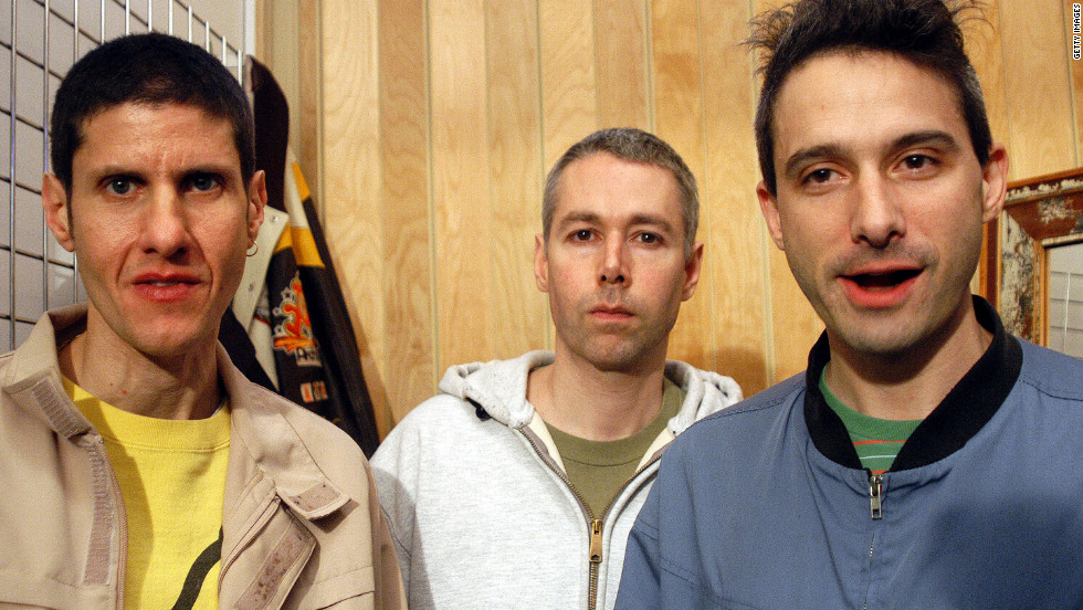 Diamond, left, Yauch and Horovitz were still hanging out in 2004.