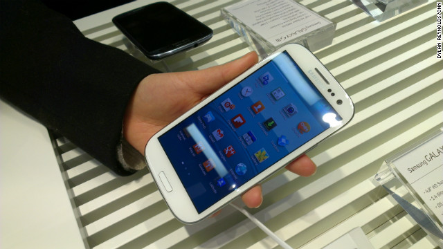 Samsung unveiled its Galaxy S III smartphone in London earlier this month.