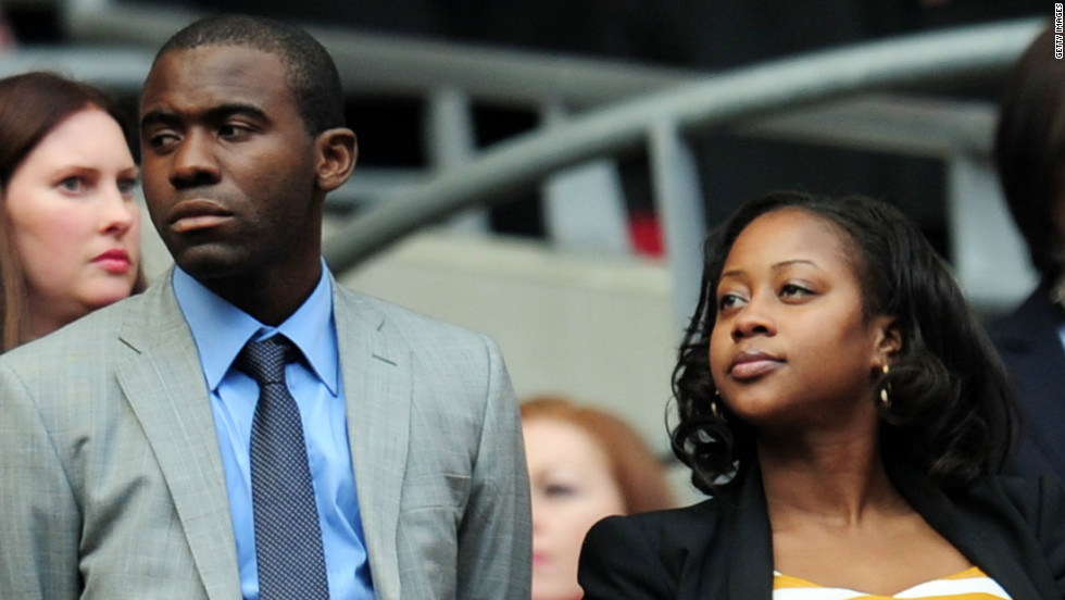Fabrice Muamba attended the match, which was played less than two months after he collapsed on the pitch after suffering cardiac arrest in his team Bolton's FA Cup quarterfinal against Tottenham.