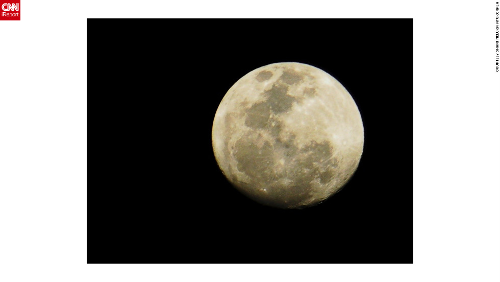 """In May 2012 Shari Neluka Atukorala, an iReporter in Kandy, Sri Lanka, said the moon """"was so bright that I could really see the markings on it quite close ... and yet so far."""""""