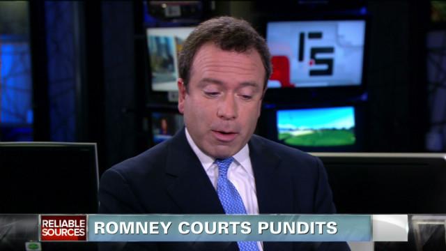 Mitt Romney courts pundits
