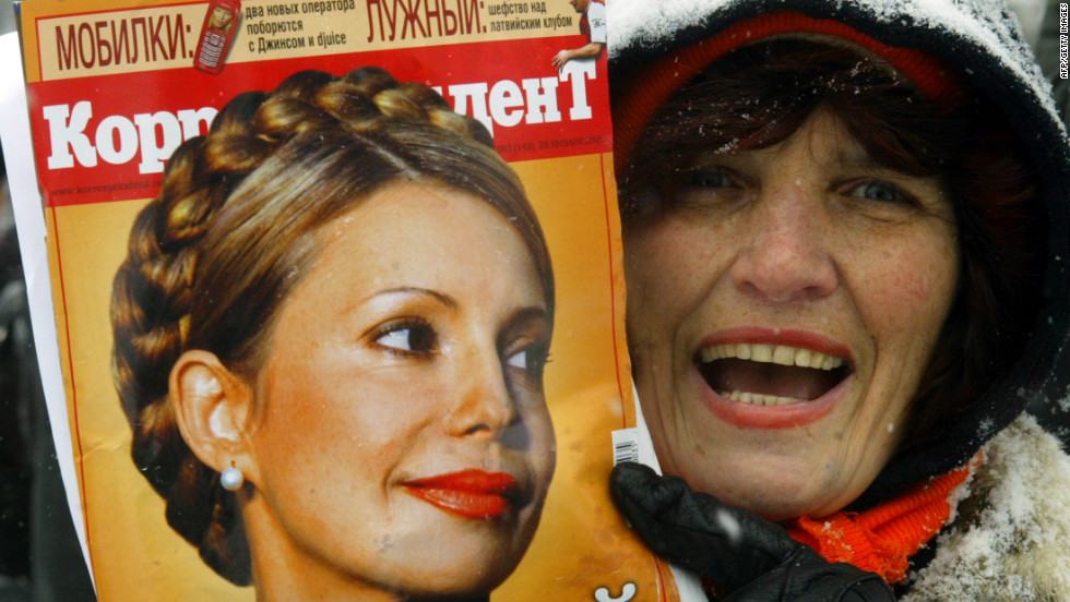 Although Yushchenko had won the election it was the blonde-haired figure of Tymoshenko that captured the public's attention. She was appointed prime minister in the new government.