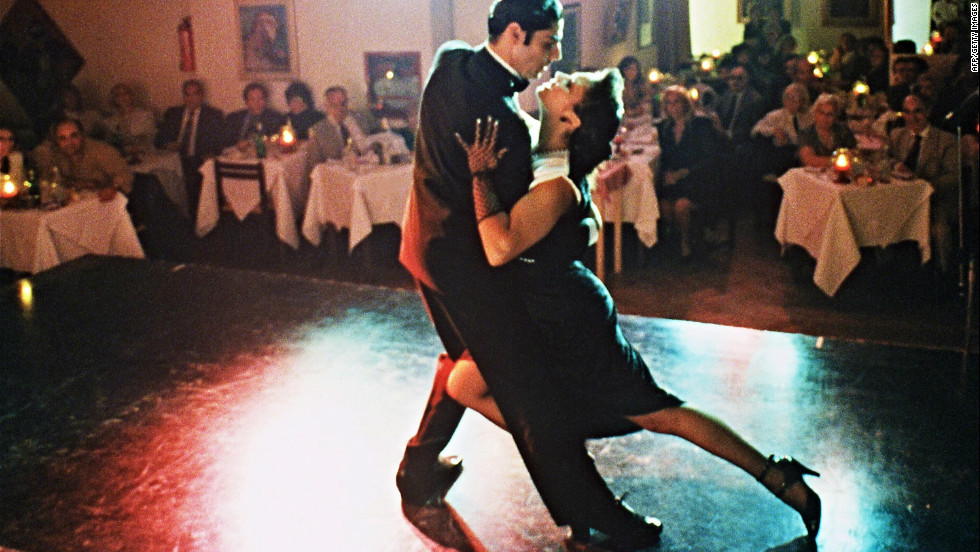 "A glimpse inside the ""Galeria del Tango Argentino,"" one of the most famous bar-restaurants offering a tango show to its customers."