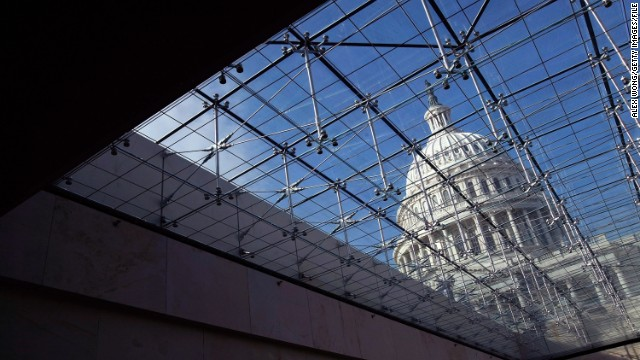 The U.S. Capitol is shown from the Capitol Visitor Center in this November 2008 file photo.