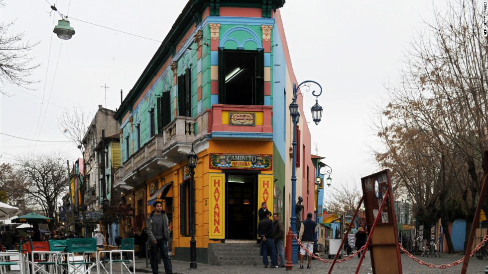 "Famed for its elaborate row of colorful houses, Caminito Street inspired the violinist and composer Juan de Dios Filiberto to create his famous tango ""Caminito."""