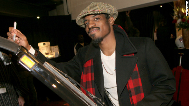 Andre 3000 from OutKast, shown here attending an event in 2006.