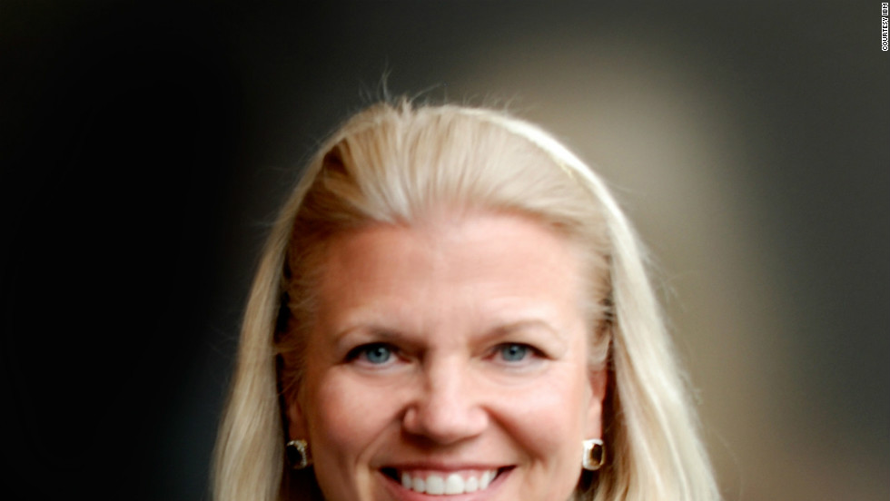 Virginia Rometty is president and CEO of IBM. She is the first woman to lead the technology giant, America's 20th-largest company, according to Fortune.