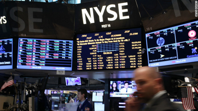 The New York Stock Exchange on May 7. Global markets declined in response to the election results in France and Greece.