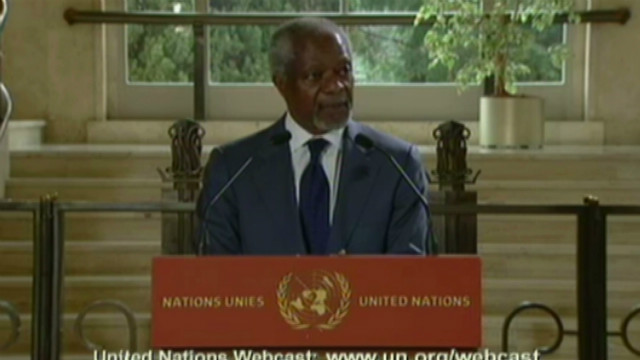 Annan: Civil war possible in Syria