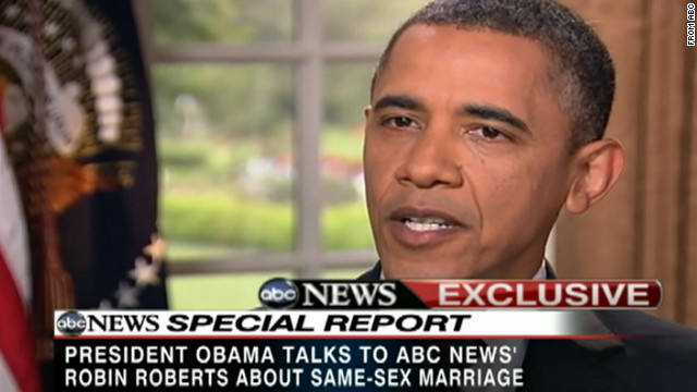 Obama: Gay marriage 'should be legal'