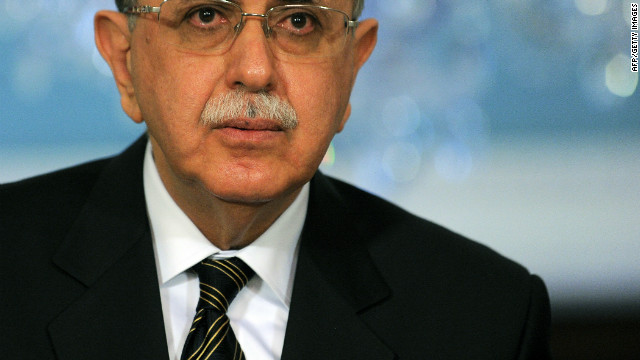 The office of Libya's interim prime minister,  Abdel Rahim al-Kib, was attacked by former rebels on Tuesday.