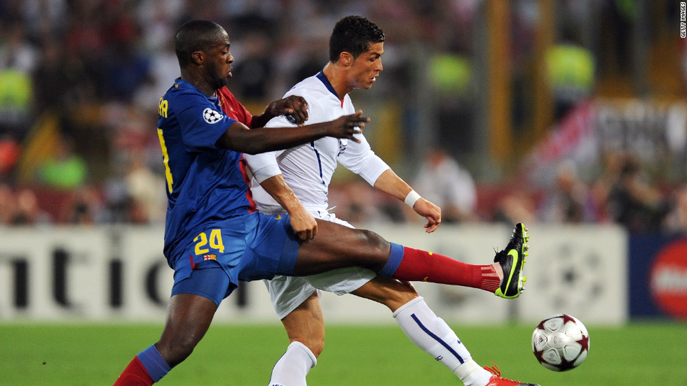 The midfielder was not such a key player at his previous club Barcelona, and filled a central defensive role in the 2009 Champions League final victory  against Manchester United.