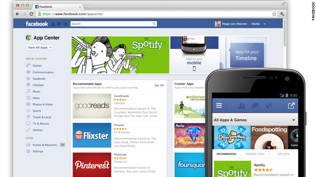 Facebook's new App Center will let users find free, and now paid, apps that run on the networking site.