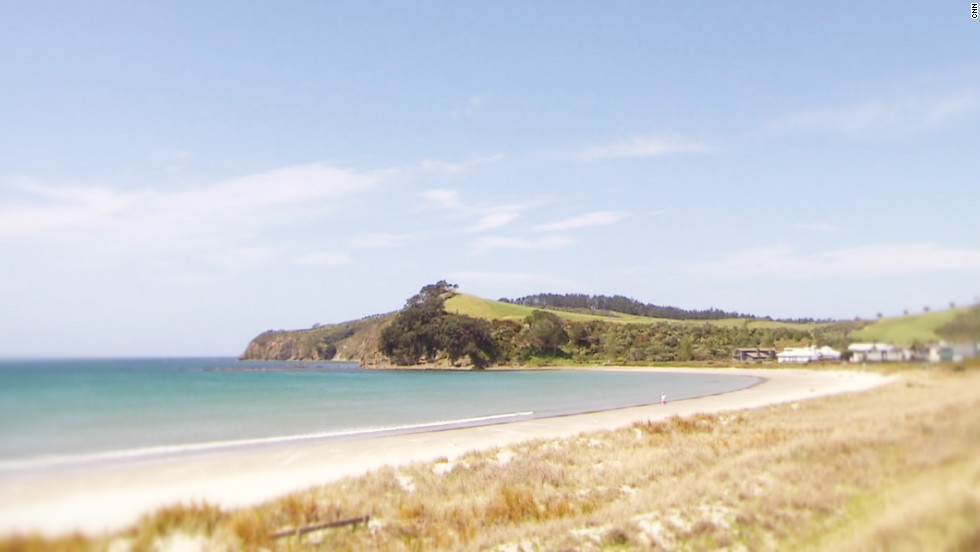 "The view from Cooper's beach-side home along the Auckland coast. Of her home country, Cooper says it's a source of great creativity and freshness. ""Being the first people to see the sun rise each morning, gives us a sort of freshness, an edginess,"" she said."