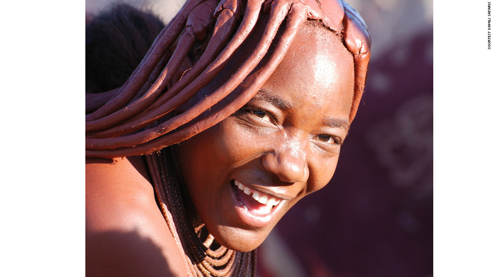 The Himba women of northern Namibia are famous for their use of <em>otjize</em>, a paste of butter, fat and red ochre, which they apply to their hair and skin.