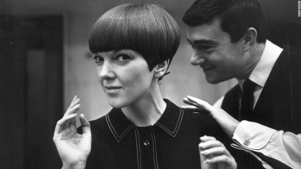 "Clothes designer Mary Quant, one of the leading lights of the British fashion scene in the 1960's and the designer responsible for the mini-skirt, having her hair cut by her fellow fashion icon Vidal Sassoon in 1964. Quant called Sassoon the ""Chanel of hair""."