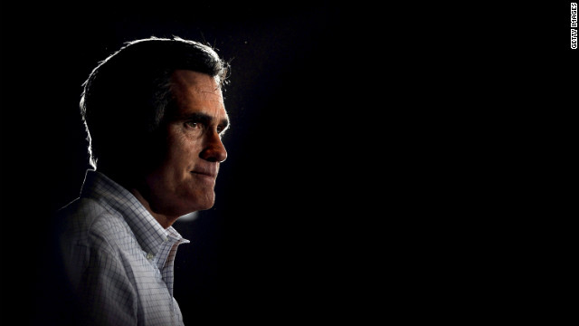 ARBUTUS, MD - MARCH 21: Republican presidential candidate, former Massachusetts Gov. Mitt Romney addresses supporters as he campaigns during a town hall forum at the American Legion Post 109 on March 21, 2012 in Arbutus, Maryland. After winning Illinois on March 20, Romney hopes to continue to pull away from his closest rival, Rick Santorum, and other front-runners for the GOP nomination. (Photo by Patrick Smith/Getty Images)