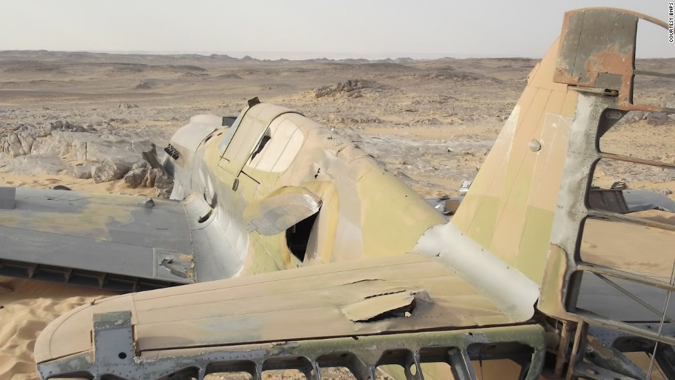 "The fighter's ""state of preservation is incredible,"" British military historian Andy Saunders said. ""The thing just landed there in the desert and the pilot clearly got out. ... It is a complete time capsule really."""