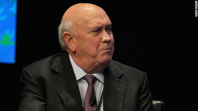 Former South African president FW de Klerk pictured in Chicago in April.