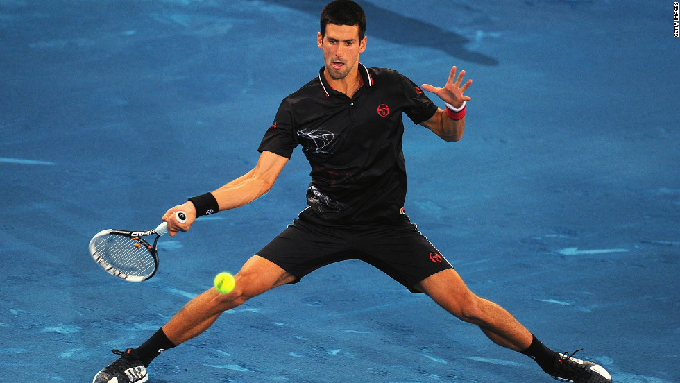 "Novak Djokovic, who beat Nadal in last year's final on red clay, has been an outspoken critic of the surface, saying: ""I played my first official match on blue clay and I have to admit I was not very happy. Next time I have to bring skates instead of shoes, it was sooo slippery."""