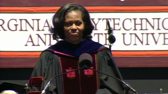 First lady speaks at Hokie graduation
