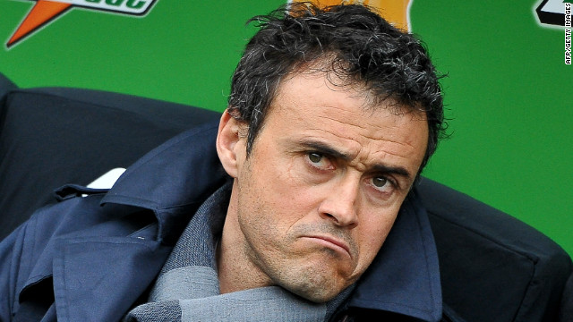 Luis Enrique left Barcelona's reserve team for his first role as a first-team coach at Roma.
