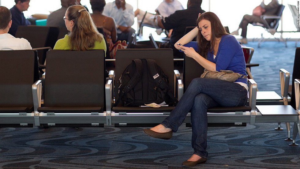 Wi-Fi will be available for a fee when the terminal opens May 16. Electronic charging stations are conveniently located in seating areas.
