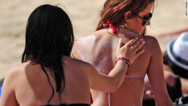 A report says many sunscreens contain oxybenzone. The American Academy of Dermatology says the chemical is safe.