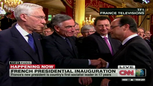 Hollande sworn in as French president