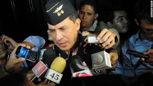 Police spokesman Hector Ivan Mejia confirms the death of journalist Alfredo Villatoro on May 15, 2012.