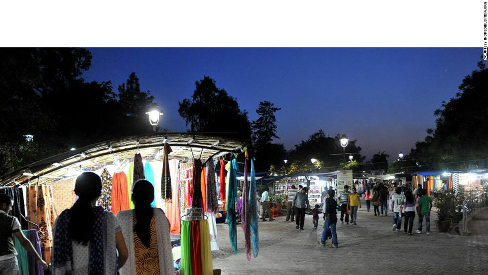 Dilli Haat market in south-west Delhi is permanent open-air arts-and-crafts bazaar that offers the opportunity to buy directly from rural artisans and craftspeople.