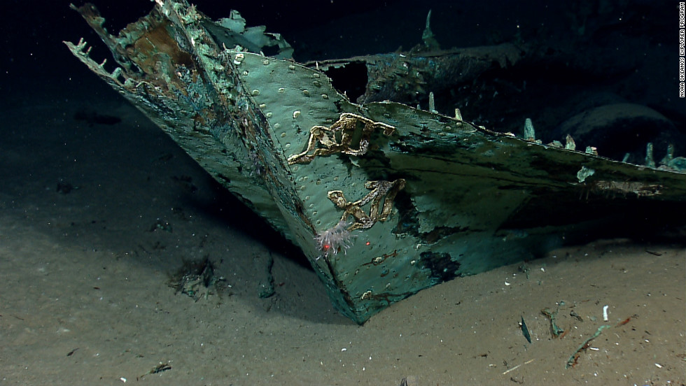 Images of a shipwreck found in the Gulf of Mexico showed that its wooden construction has been destroyed by underwater organisms, but copper sheeting that protected the ship's hull also helped it retain its shape.