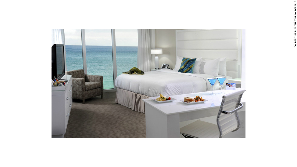 The 240-room B Ocean does affordable without nickel-and-diming guests. Wi-Fi is free, ocean views are standard, and spa services are a bargain.