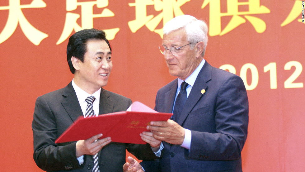 Veteran Italian coach Marcello Lippi was announced as coach of Guangzhou Evergrande last month. Lippi led Italy to FIFA World Cup glory in Germany in 2006.
