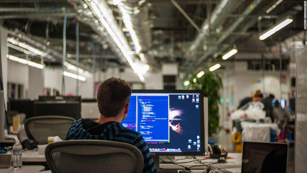 Fueled by Chinese food and Red Bull, many employees work on coding projects into the wee hours.