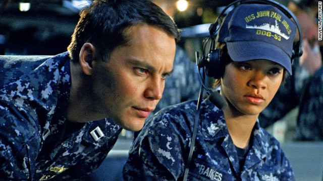 "Taylor Kitsch and Rihanna star in ""Battleship."""