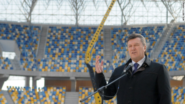 Splendid isolation: Will President Viktor Yanukovych greet any European dignitaries at Euro 2012?