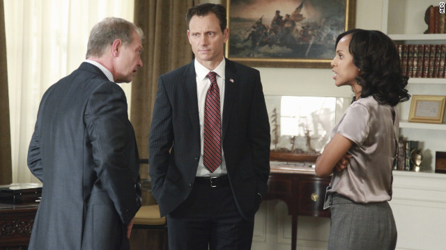 """Scandal"" stars Jeff Perry, Tony Goldwyn and Kerry Washington."