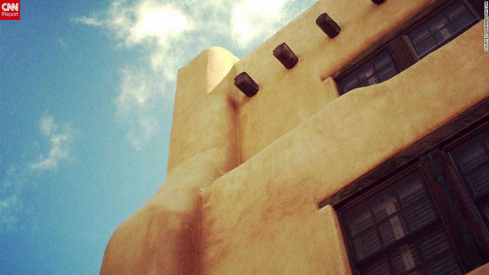 Pueblo style architecture defines the city.