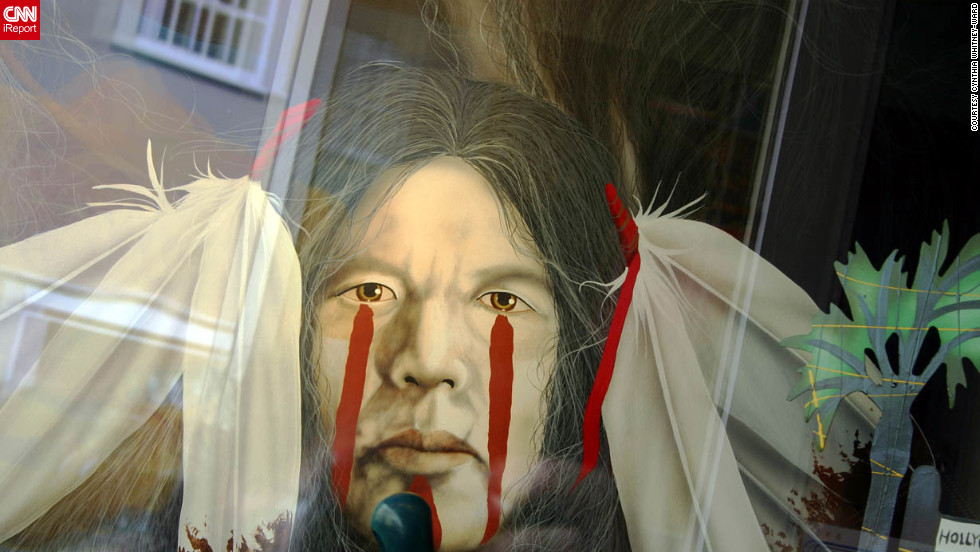 """""""I love to 'shoot' gallery windows in broad daylight to capture what's inside the window and the reflection of 'Santa Fe' behind,"""" writes iReporter Cynthia Whitney-Ward, who lives in Santa Fe."""