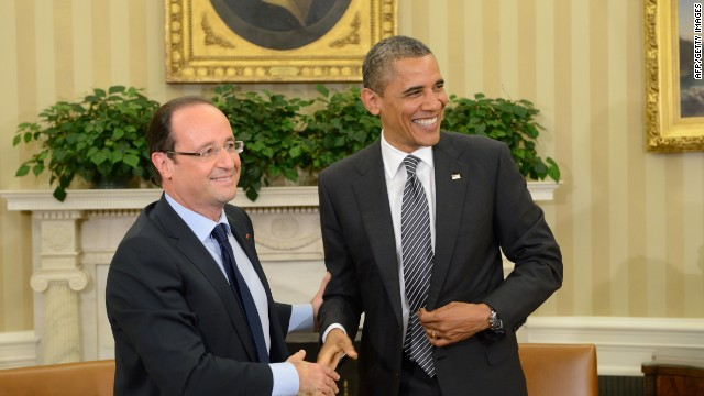 Hollande to go stag to White House dinner