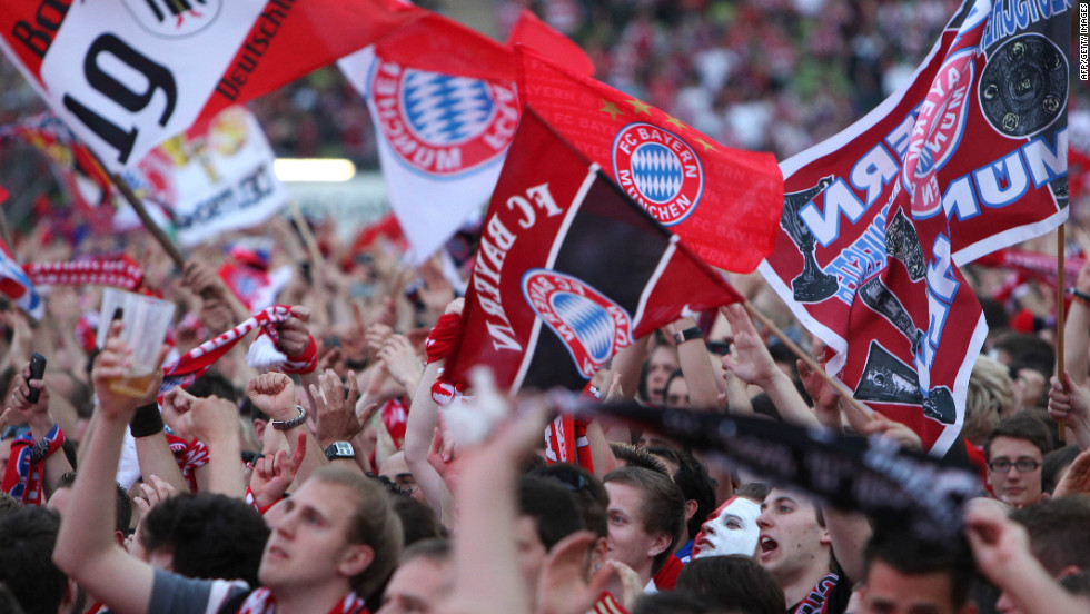 Bayern Munich's supporters packed their home Allianz Arena to see their heroes take on Chelsea.